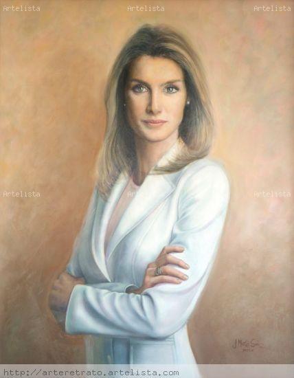 S.A.R. La Princesa de Asturias Lienzo Óleo Retrato
