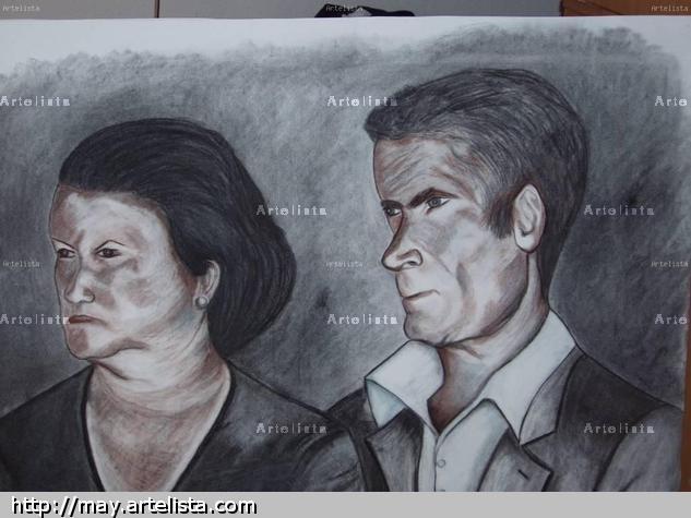 suegros de tomas Paper Pencil (Black) Portrait