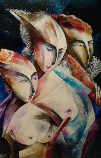 La Presentación Textile Oil Portrait