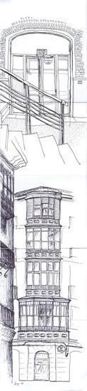 Edificio en la calle del Perro y Bilbaoarte Rotulador