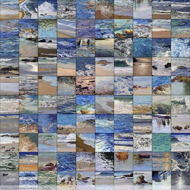 99 mares Lienzo Óleo Paisaje