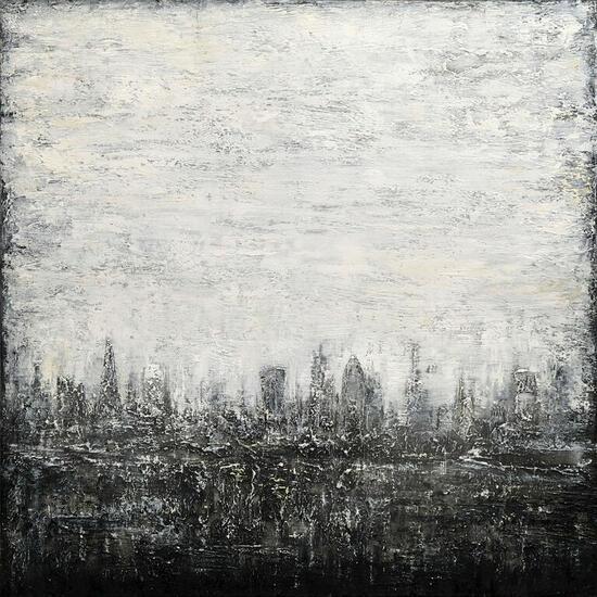 Abstract Cityscape VI Paisaje Media Mixta Lienzo
