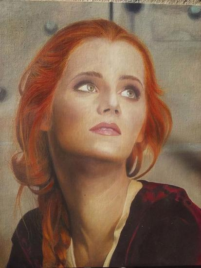Miss Web Portrait Oil Canvas