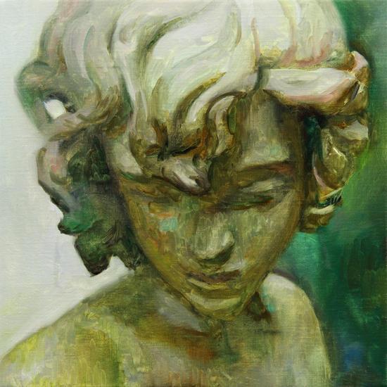 Mix in green Lienzo Óleo Retrato