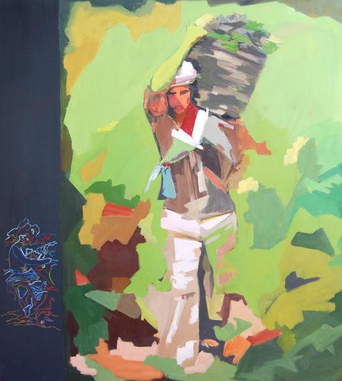 La Vendimia Panel Oil Figure Painting