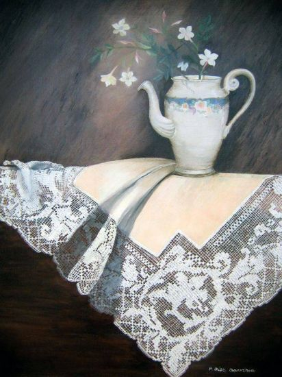 Recuerdo de mi abuela Óleo Lienzo Bodegones