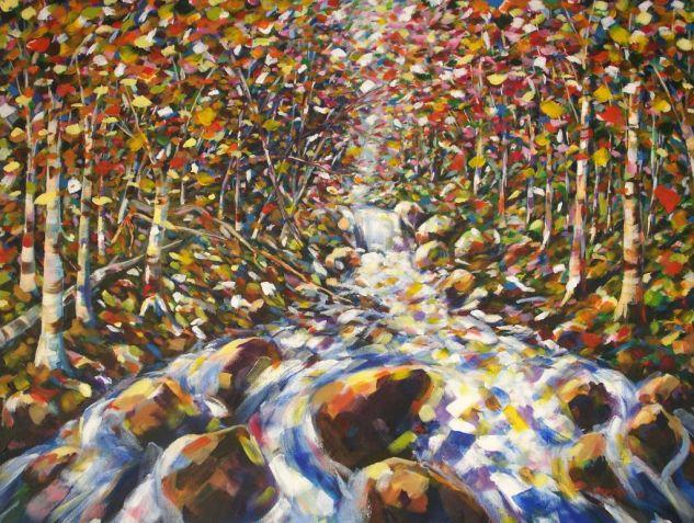 rio Lienzo Acrílico Paisaje