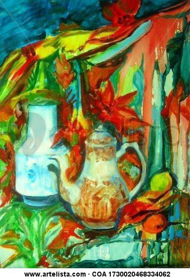 Cartuja Panel Oil Still Life Paintings