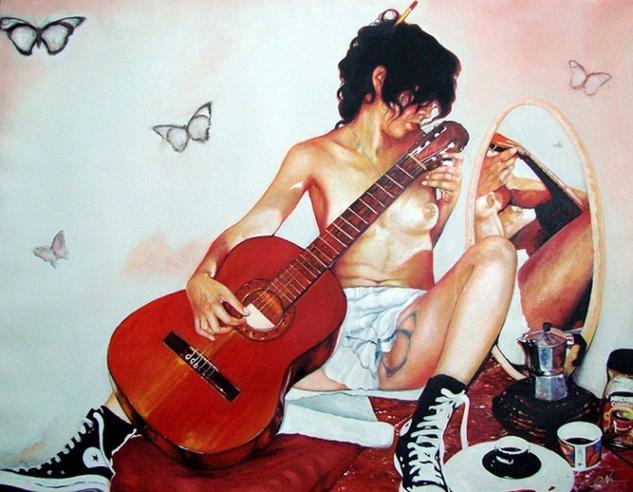 Guitarra básica Canvas Oil Nude Paintings