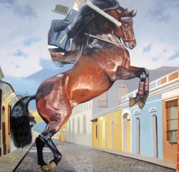 rejoneador fantasma Animals Oil Canvas
