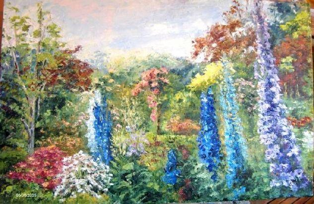 Flores, Luz y Color Óleo Lienzo Floral
