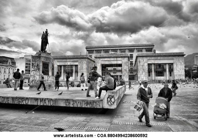 Plaza mayor Black and White (Digital) Photojournalism and Documentary