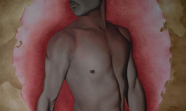 Sentires en la Piel - Oleo sobre tela, sepia Canvas Oil Nude Paintings