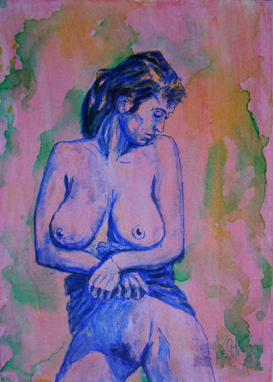 Eros 2 Desnudos Acrílico Tabla