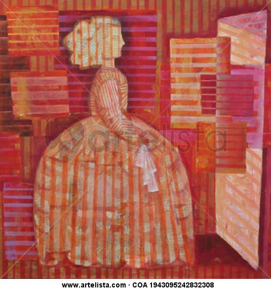 Menina II Canvas Mixed media Portrait