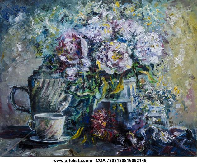 morning  Floral Óleo Lienzo