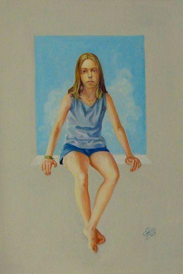 mi sobrina Óleo Lienzo Retrato