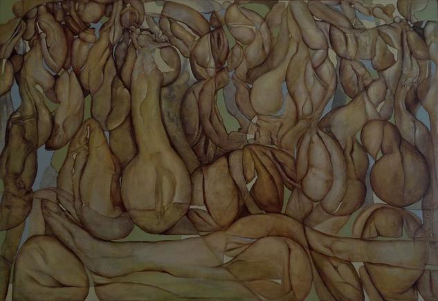 Tres disparos al aire Canvas Oil Nude Paintings
