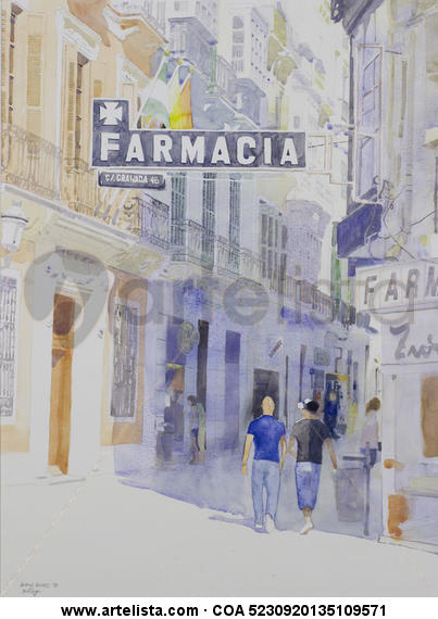 Calle Granada, 46  Málaga Papel Acuarela Otros