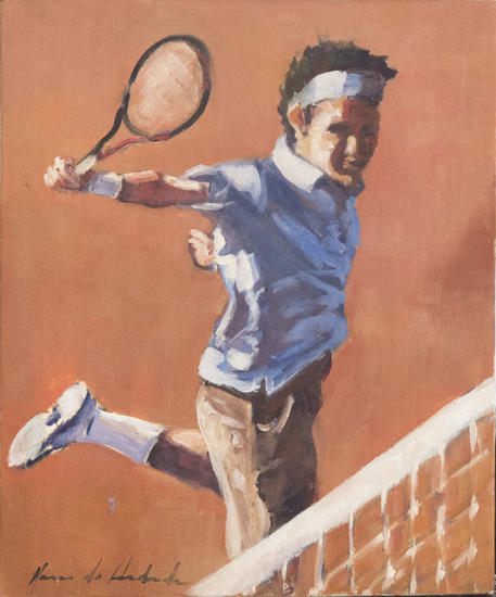 The Tenist Canvas Oil Sports