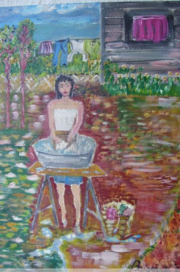 PRESENCIA IV-SERIE MUJERES Acrylic Panel Figure Painting