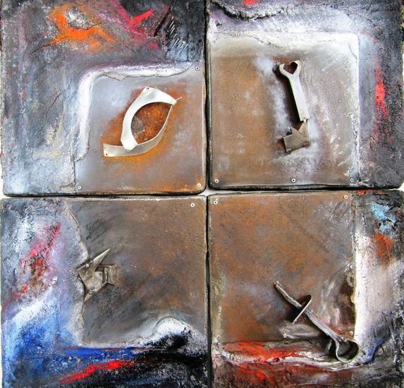 SERIE: AL FINAL DE LA TARDE 5,6,7 y 8-12 Mixta Abstracta