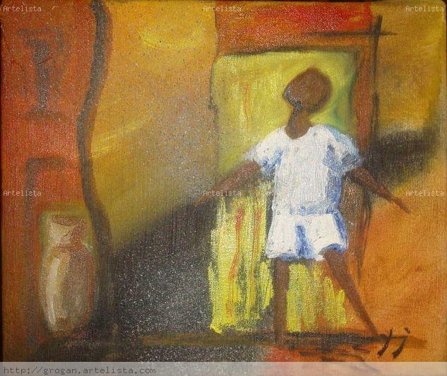 espectativa Canvas Oil Figure Painting