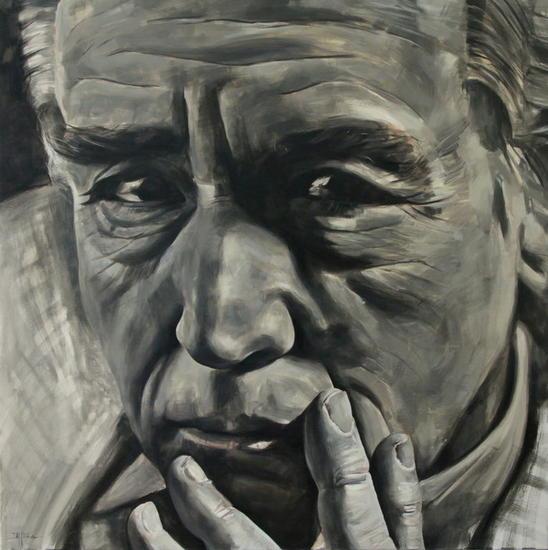Vittorio Gassman Lienzo Óleo Retrato