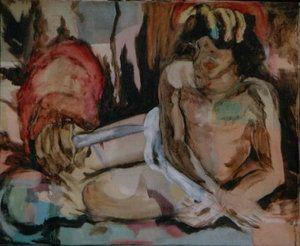 Angel Acrílico Lienzo Desnudos