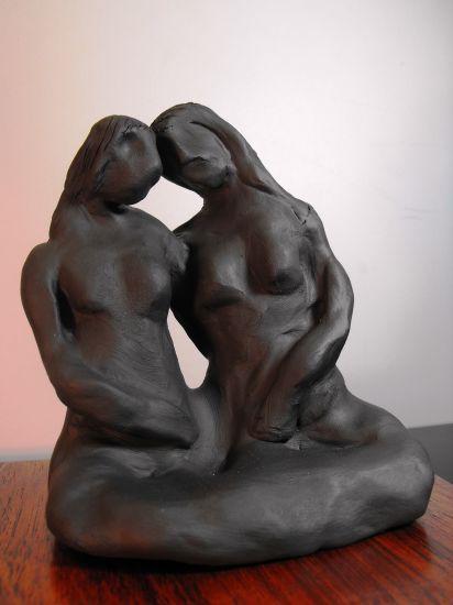 Two Women Terracota Figurativa