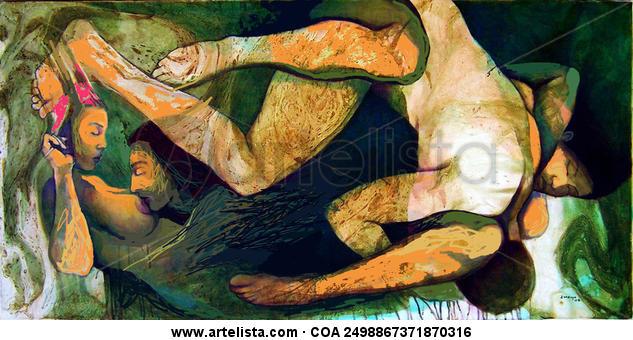 Almas esperanzadas 7 Lienzo Acrílico Desnudos