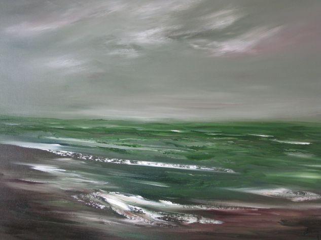 Mar Cálido Óleo Lienzo Marina