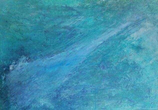Blue flow Marina Acrílico Lienzo