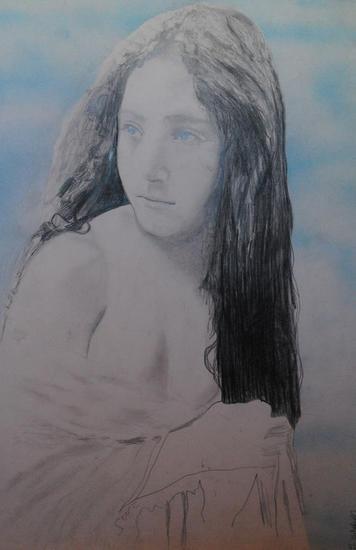 Celeste Retrato Grafito Cartulina