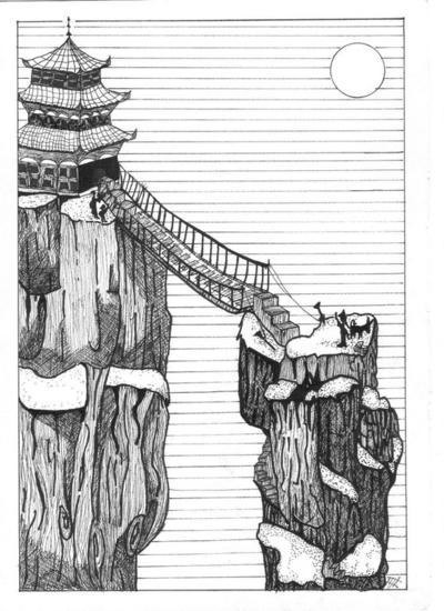 El puente Papel Tinta Paisaje