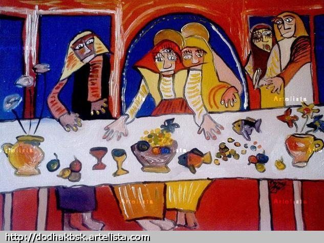 The Last Supper Óleo Lienzo Otros