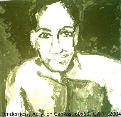 Tenderness Acrílico Lienzo Retrato