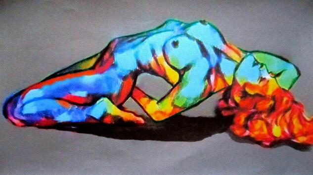 Merry Heart Nude Paintings Acrylic Canvas