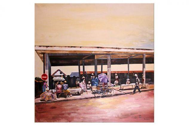 Jerokypa Guazú en el Mercado Municipal N° 4, con los