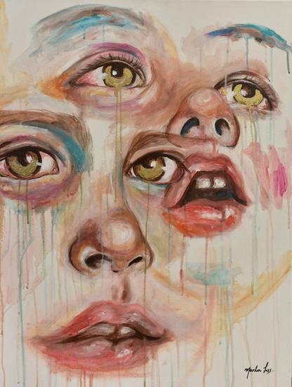 lagrimas de oro Canvas Acrylic Portrait
