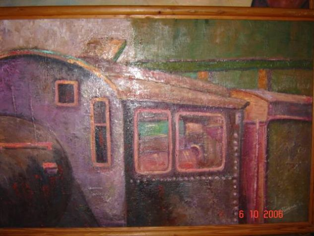 Estacion Baquedano Óleo Tela Figura