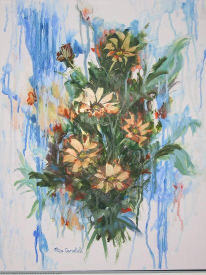 Flores en el aire Cartulina Media Mixta Floral