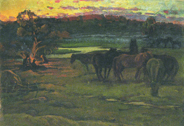 At the dawn Paisaje Óleo Lienzo