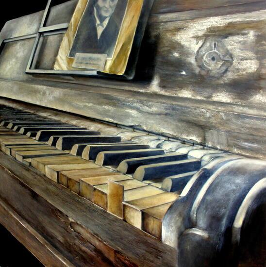 El viejo piano Otros Óleo Tabla