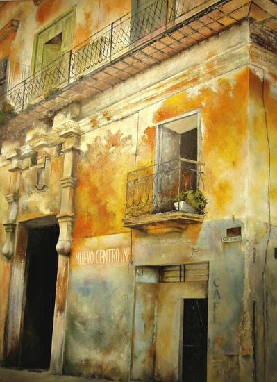 Cl.San Ignacio-La Habana Landscaping Oil Canvas