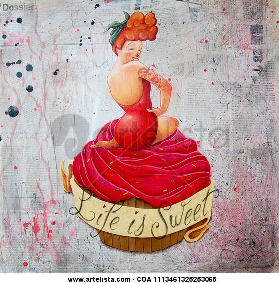 Life ist Sweet  Otros Lienzo Gouache