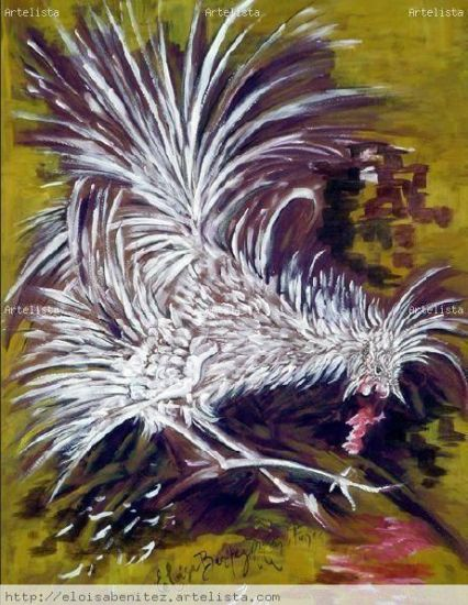 LA RIÑA Oil Canvas Animals