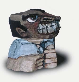 colectivero irritado Piedra Figurativa