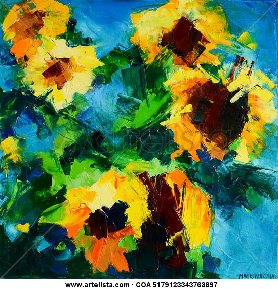 sunflowers II Lienzo Óleo Floral