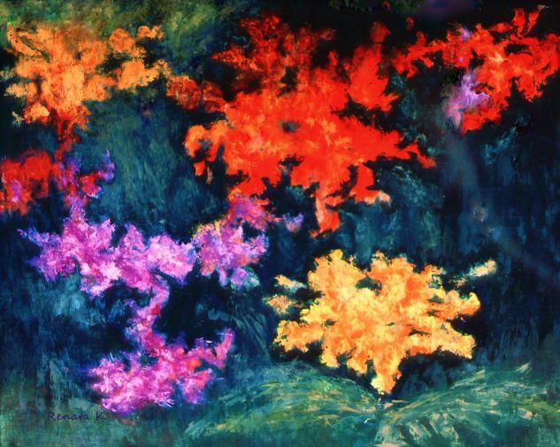 ´Peonías Tabla Óleo Floral